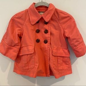Old Navy Girls Coral Trench Coat